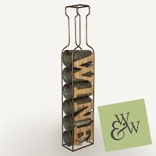 industrial rustic vintage wine rack bottle holder large metal wood wall standing 1 of 6only 1 available see more