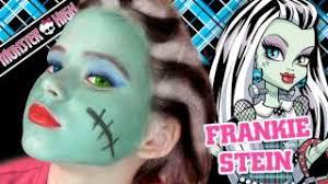 frankie stein monster high doll costume makeup tutorial for