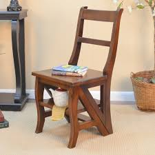 gracewood hollow bellizzi folding wood library ladder chair