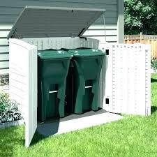 outdoor trash can storage wood enclosures outside garbage cans cabinet bin sheds bins ho