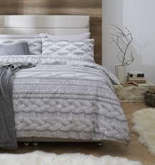 cable knit bedding brilliant single size grey cable knit photo print duvet cover set regarding 10