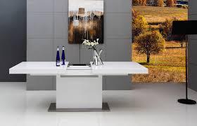 dining table extendable modern. modrest zenith - modern white extendable dining table