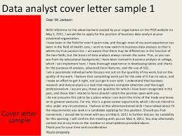 Data Analytics Cover Letter Data Analyst Cover Letter