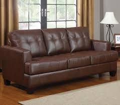 Samuel Brown Leather Sofa Bed Steal A Sofa Furniture Outlet Los