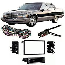 amazon com fits cadillac fleetwood 1993 1996 double din harness Factory To Aftermarket Wiring Harness For 1996 Cadillac Fleetwood fits cadillac fleetwood 1993 1996 double din harness radio install dash kit