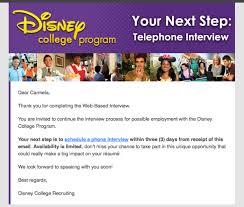 Thank You For Scheduling The Interview How To Ace Your Disney College Program Phone Interview Disneyology
