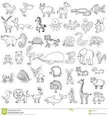 Il Disegno Dei Bambini Degli Animali Di Scarabocchio Illustrazione
