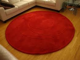 ikea red round rug in borehamwood hertfordshire gumtree