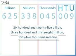 Reading Large Numbers In The Millions And Billions Maths