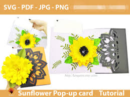 This mother's day, use one of these cute printable cards you can get. Sunflower Greeting Card Template Graphic By Lasquare Info Creative Fabrica