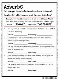 Adverb Worksheets 5Th Grade Free Worksheets Library   Download and ...