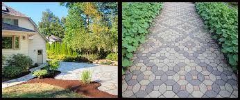 hardscaping flagstones vs pavers the