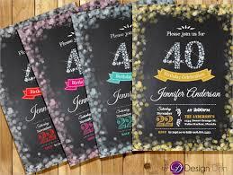 8 40th Birthday Invitations Templates 24 40th Birthday