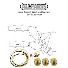 jazz bass wiring kit allparts com ep 4129 000 wiring kit for jazz bass®