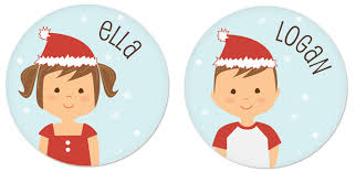 Personalized holiday gifts for kids: personalized christmas plates