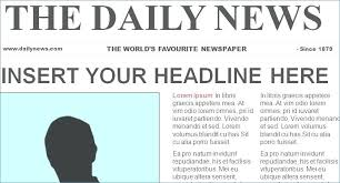 Newspaper Template For Photoshop Newspaper Template Photoshop Skincense Co