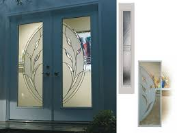Decorative Door Designs Big glass door design decorative front doors with side panels 36