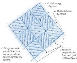Quilt it Freehand - Threads & Basket weave set on point Adamdwight.com