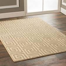 off set greek key area rug