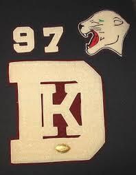 1967 varsity letterman patches dk 67 panther delton kellogg battle creek mi