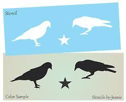 joanie stencil crow black bird barn