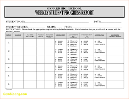 Student Progress Report Template New Student Progress Report Template Best Templates 1