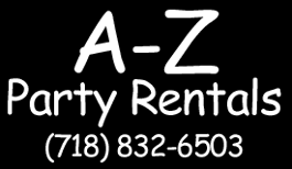 table and chair rentals brooklyn. Logo, A-to-Z Party Rental - Table Rentals And Chair Brooklyn T