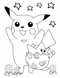 Small Picture Pokemon Coloring Pages For Kids Printable Free Pikachu Party