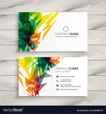 Abstract Design Company Business Card Design With Abstract Colorful Shapes