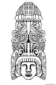Small Picture Adult Totem Inspiration Inca Mayan Aztec 2 Coloring Pages Printable