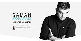 Iranian Graphic Designer Personal Website Graphic Designer Saman Mohammadi
