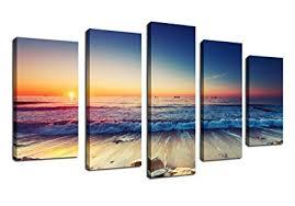 beach sunset canvas wall art