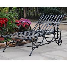 wrought iron chaise lounge woodard cushions vintage chair used chairs with wheels black