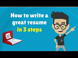 How To Write A Resume Cv In 3 Steps 3 Tips To Make A Good Resume