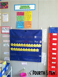 Fourth Grade Behavior Chart Fourth And Ten Behavior Management Link Up
