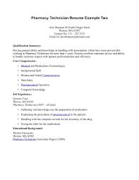 Pharmacy Technician Resume Examples Resume Templates