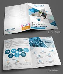 Company Brochure Design Online Personable Colorful Information Technology Brochure Design
