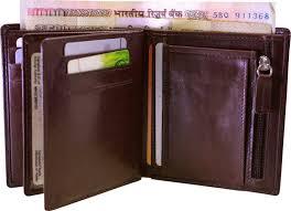 arpera slim brown genuine leather mens wallet