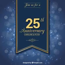 Anniversary Ribbon Twenty Fifth Anniversary Ribbon Vector Free Download