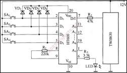Car Central Locking Circuit With Starting Control System 1