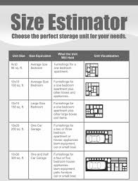 storage unit sizes