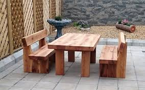 outdoor table and chairs gumtree lovely oak railway sleeper table and benches garden table bench free