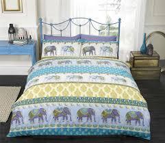 jaipur indian elephant blue king size duvet cover bedding bed set intended for quilt cover king