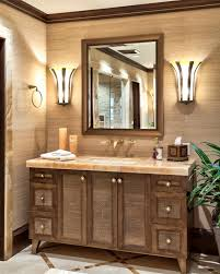 tropical bathroom photos hgtv style featuring single vanity with rough hewn marble top bathroom vanity bathroomexquisite images kitchen lighting