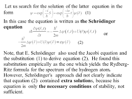 let us search for the solution of the latter equation in the form 1