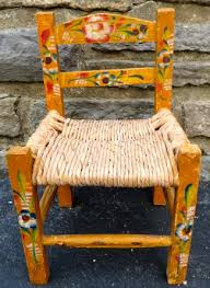 furniture mexico. vintage childs chair mexico mexican folk art furniture