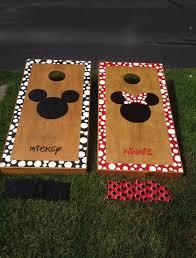 Cornhole Board Design Ideas Mickey And Minnie Corn Hole Board Cornhole Designs