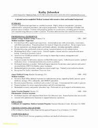 Medical Assistant Experience Resume New Resume Format For Medical