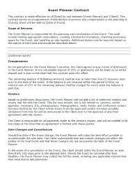 Wedding Schedule Template Impressive Day Of Wedding Coordinator Contract Template Meicysco