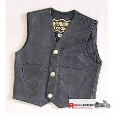 toddler kids plain leather vest
